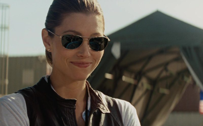 John Varvatos V723 Sunglasses Worn by Jessica Biel in The A-Team (1)