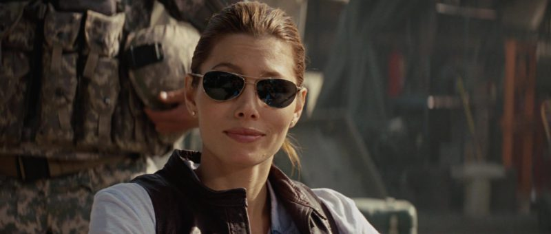 John Varvatos V723 Sunglasses Worn by Jessica Biel in The A-Team (2010) - Movie Product Placement
