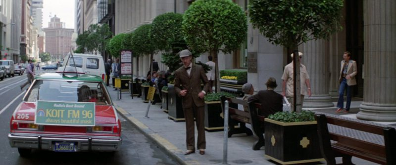 KOIT FM Radio Station Taxi Advertising Sign in Time After Time (1979) - Movie Product Placement