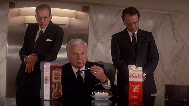 Kellogg's Cocoa Krispies Cereal in Head Office (1985) Movie Product Placement