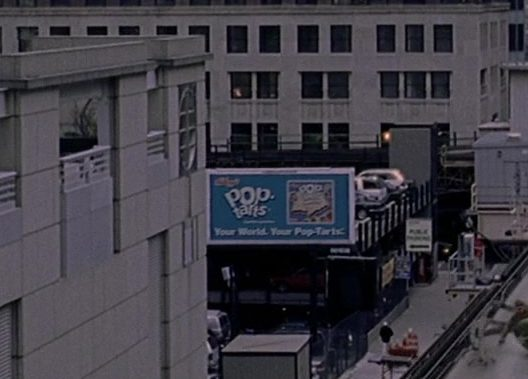 Kellogg's Pop-Tarts Billboard in Spider-Man 2 (2004) Movie Product Placement