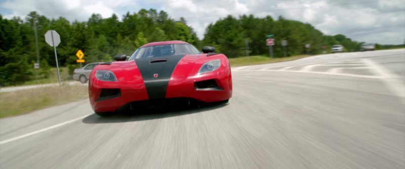 Koenigsegg Agera R Red Sports Car Driven by Dominic Cooper in Need for Speed (2014) Movie Product Placement