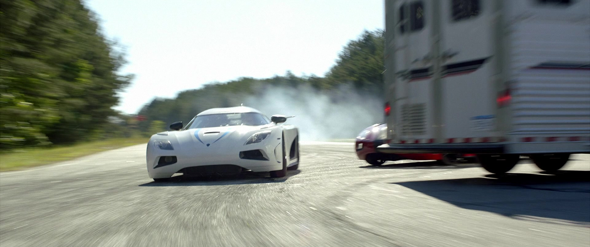 Koenigsegg Agera R White Sports Car Driven By Harrison