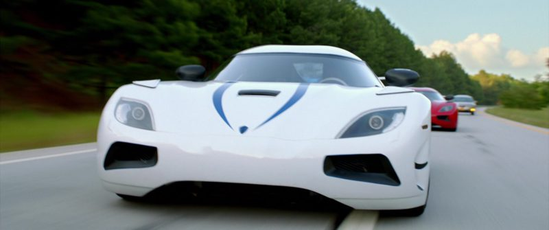 Koenigsegg Agera R White Sports Car Driven by Harrison Gilbertson in Need for Speed (2014) - Movie Product Placement