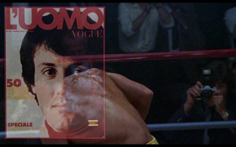 L'Uomo Vogue (Men's Vogue) Magazine in Rocky 3