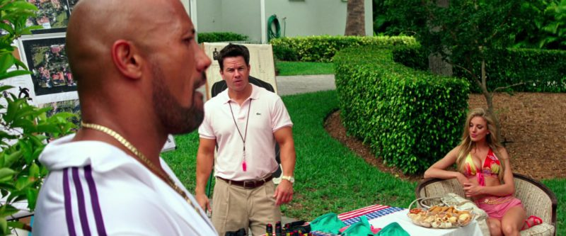 Lacoste Pink Polo Shirt Worn by Mark Wahlberg in Pain & Gain (2013) Movie Product Placement