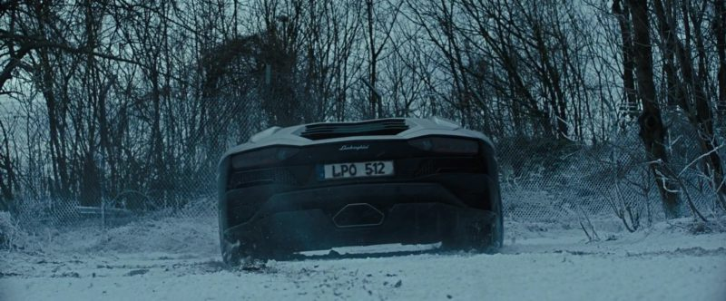 Lamborghini Aventador Sports Car In The Girl In The Spider