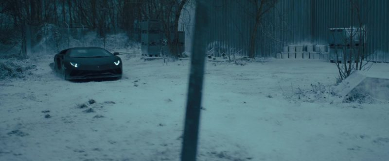 Lamborghini Aventador Sports Car in The Girl in the Spider's Web (2018) Movie Product Placement