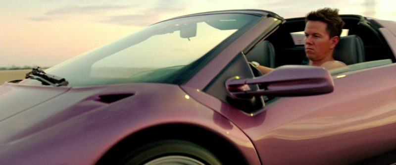 Lamborghini Diablo VT Roadster Purple Sports Car in Pain & Gain (2013) Movie Product Placement