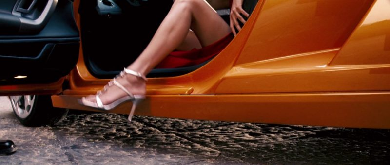 Lamborghini Gallardo Orange Sports Car Driven by Maggie Q in Mission: Impossible III (2006) Movie Product Placement