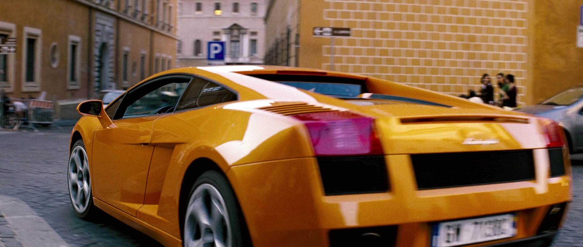 Lamborghini Gallardo 2017 >> Lamborghini Gallardo Orange Sports Car Driven by Maggie Q ...