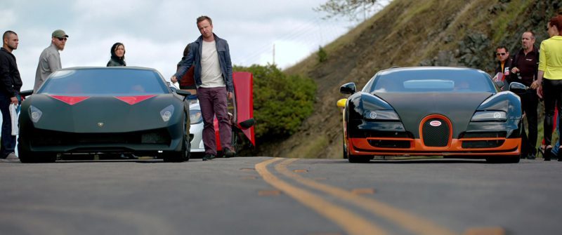Lamborghini Sesto Elemento and Bugatti Veyron SS Sports Cars in Need for Speed (2014) Movie Product Placement