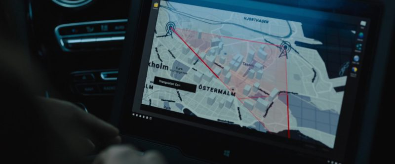 Laptop Microsoft Windows Used Lakeith Stanfield in The Girl in the Spider's Web (2018) Movie Product Placement