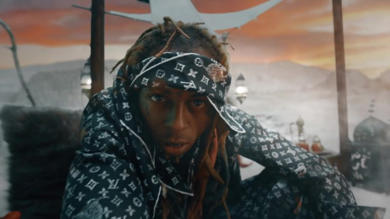 Louis Vuitton Outfit (Pants, Jacket and Headband) Worn by Lil Wayne in Don't Cry ft. XXXTentacion (2019) Official Music Video Product Placement