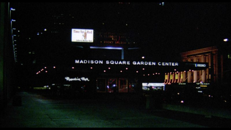 Madison Square Garden and Johnnie Walker Red Label Scotch Whisky Billboard in Rocky 3 (1982) Movie Product Placement