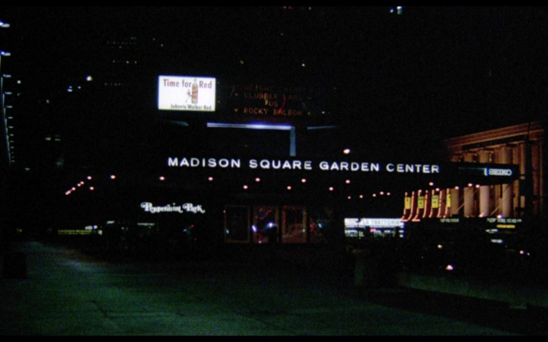 Madison Square Garden and Johnnie Walker Red Label Scotch Whisky Billboard in Rocky 3 (1)