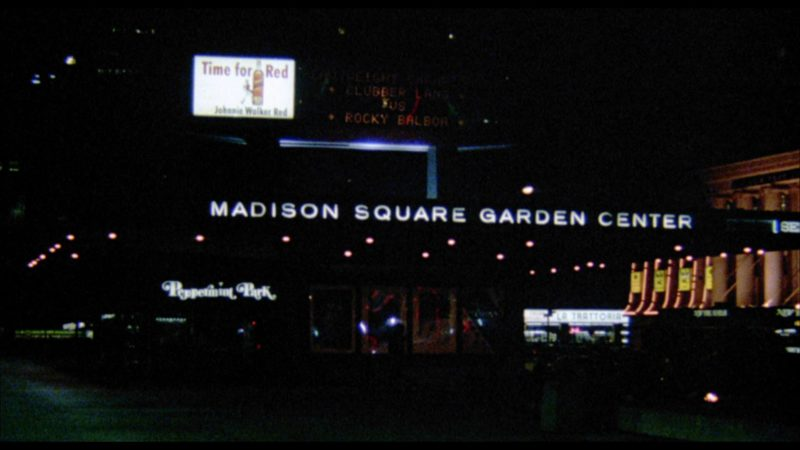 Madison Square Garden and Johnnie Walker Red Label Scotch Whisky Billboard in Rocky 3 (1982) Movie