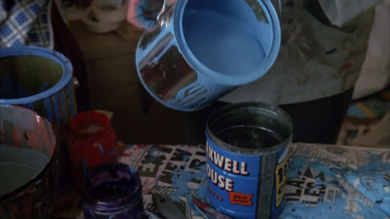 Maxwell House Coffee Metallic Canister In Mermaids 1990 Movie