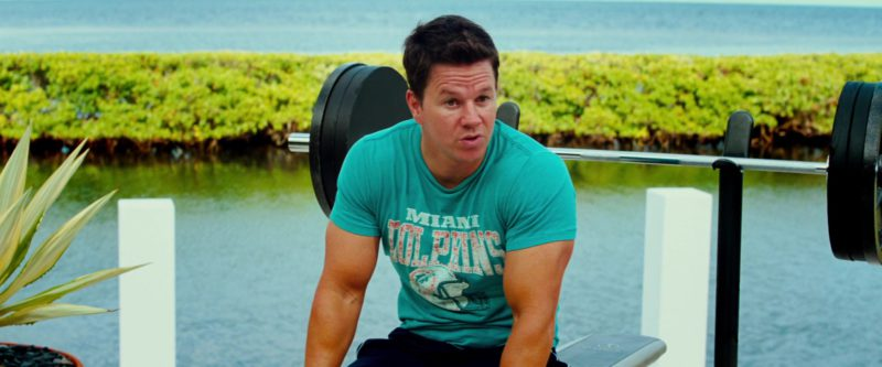 Miami Dolphins American Football Team T-Shirt Worn by Mark Wahlberg in Pain & Gain (2013) - Movie Product Placement