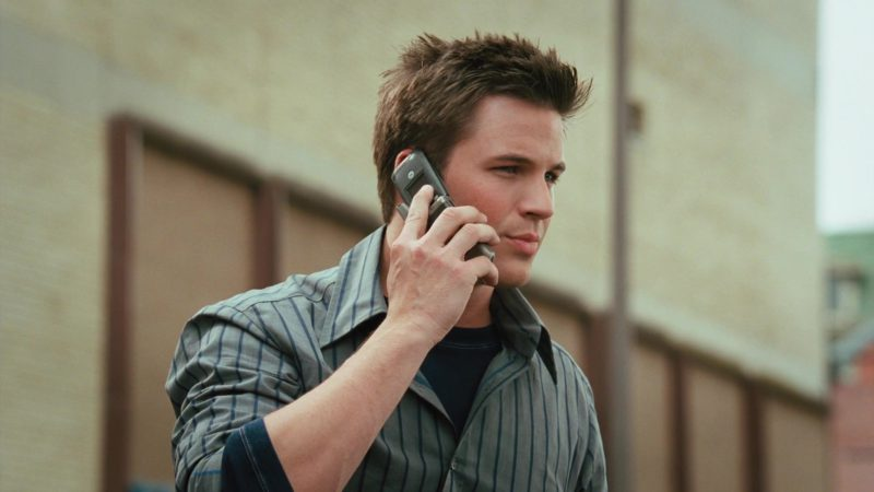 Motorola Cell Phone Used by Matt Lanter in Disaster Movie (2008) Movie Product Placement