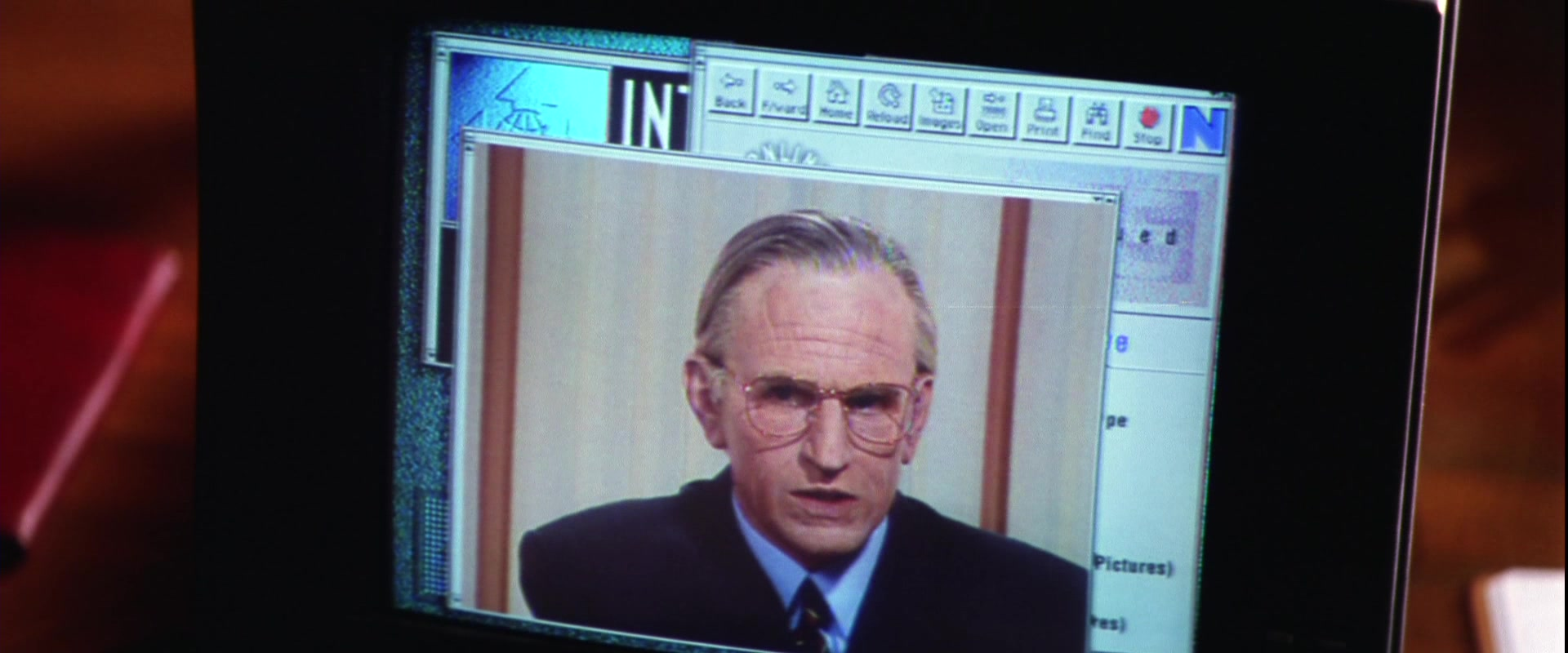 Netscape Web Browser in Mission: Impossible (1996) Movie
