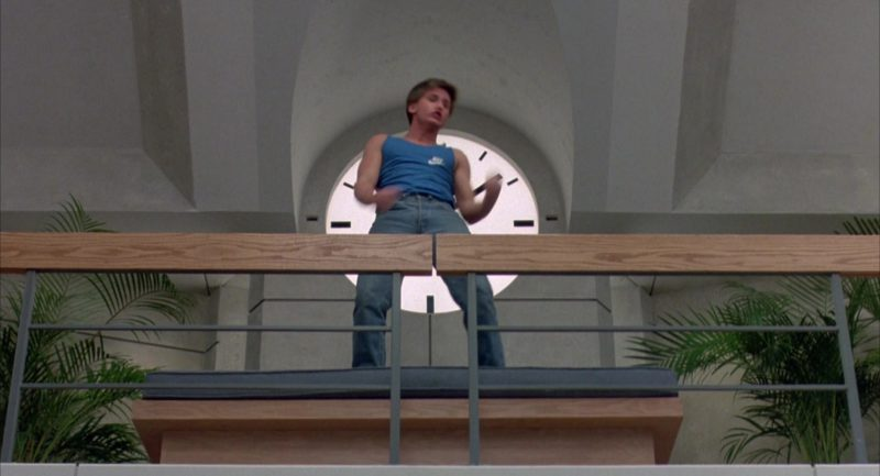 Nike T-Shirt (Blue) Worn by Emilio Estevez in The Breakfast Club (1985) Movie Product Placement