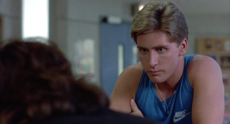 Nike T-Shirt (Blue) Worn by Emilio Estevez in The Breakfast Club (1985) - Movie Product Placement
