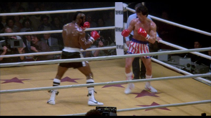 Nike Boxing Shoes Worn by Mr. T (Clubber Lang) in Rocky 3 (1982) Movie Product Placement