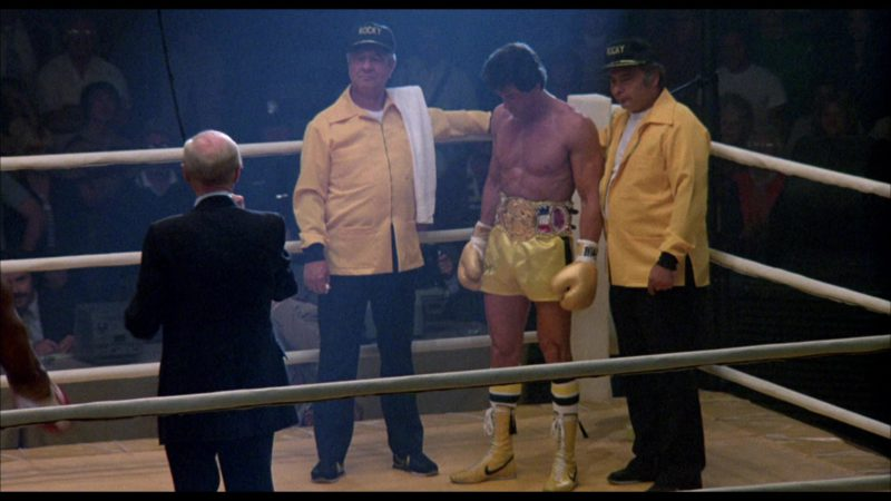 Nike Boxing Yellow Shoes Worn by Sylvester Stallone (Rocky Balboa) in Rocky 3 (1982) Movie Product Placement