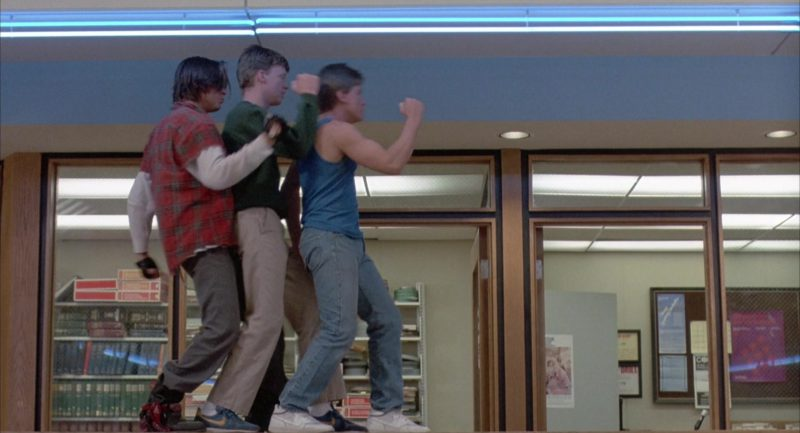 Nike Internationalist Blue Sneakers Worn by Anthony Michael Hall in The Breakfast Club (1985) Movie Product Placement