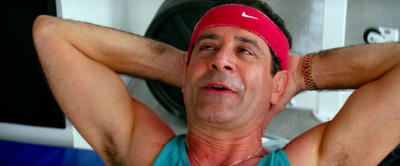 Nike Red Headband Worn by Tony Shalhoub in Pain & Gain (2013) Movie Product Placement