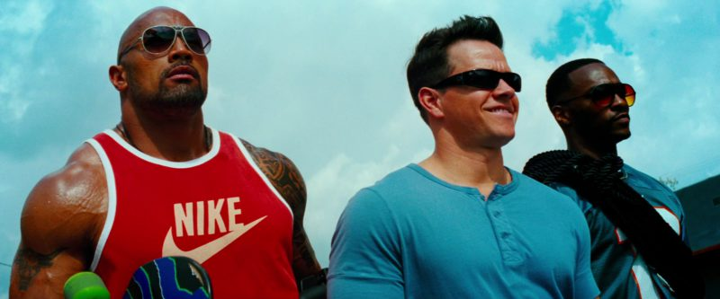 Nike Men's Red Tee Worn by Dwayne Johnson in Pain & Gain (2013) Movie Product Placement