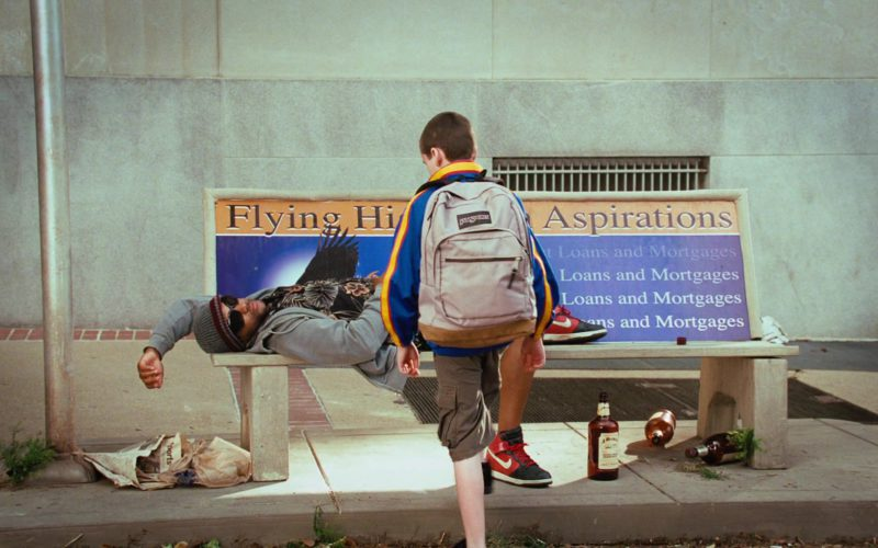 Nike Shoes and Jansport Backpack in Disaster Movie