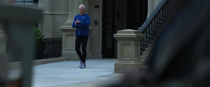 Nike Blue Tee, Black Leggings and Grey Shoes Worn by Neal McDonough in Proud Mary (2018) Movie Product Placement