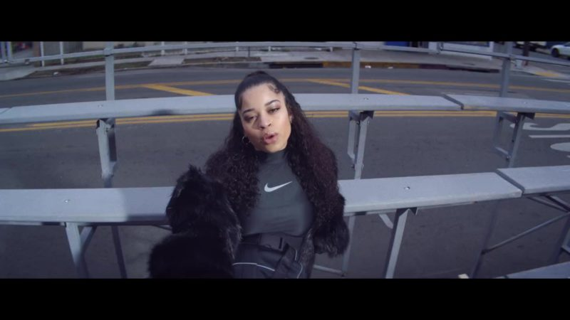 Nike Women's Black Sports Top Worn by Ella Mai in Shot Clock (2019) Music Video Product Placement