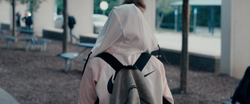 Nike Women's White Hooded Jacket Worn by Amandla Stenberg in The Hate U Give (2018) Movie Product Placement