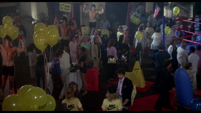 Nike Women's Yellow T-Shirts in Rocky 3 (1982) - Movie Product Placement