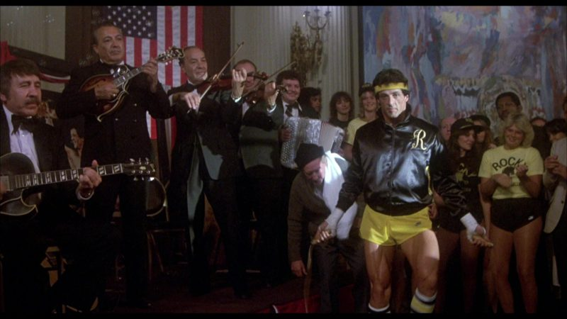 Nike Yellow Shorts Worn by Sylvester Stallone (Rocky Balboa) in Rocky 3 (1982) - Movie Product Placement