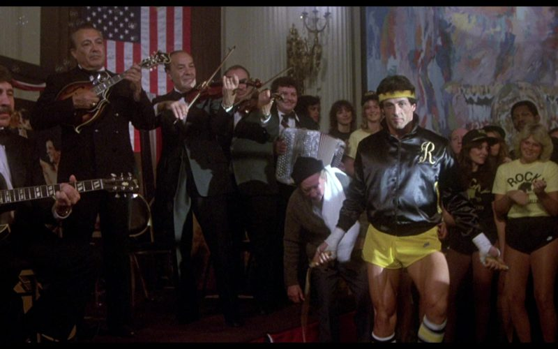 Nike Yellow Shorts Worn by Sylvester Stallone (Rocky Balboa) in Rocky 3 (4)