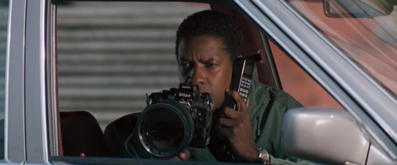 Nikon Camera Used by Denzel Washington in The Pelican Brief (1993) Movie Product Placement