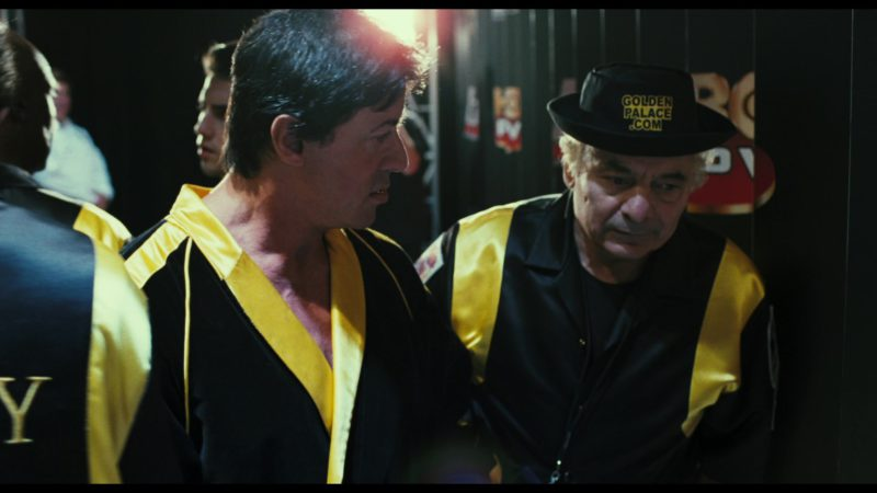 "Online Casino ""GoldenPalace.com"" Hat Worn by Burt Young (Paulie Pennino) in Rocky Balboa (2006) - Movie Product Placement"