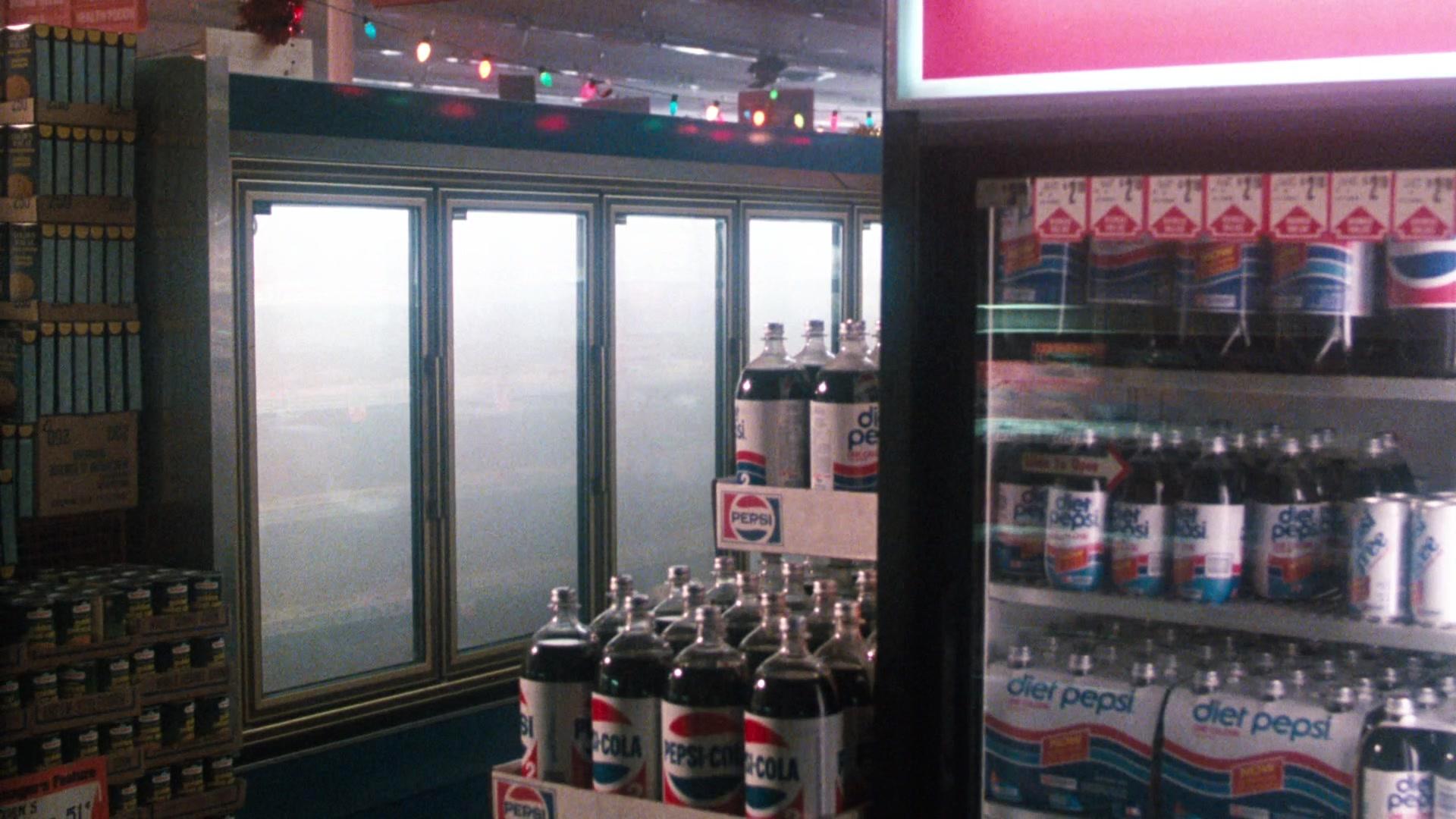 pepsi cola and diet pepsi bottles in cobra 1986 movie