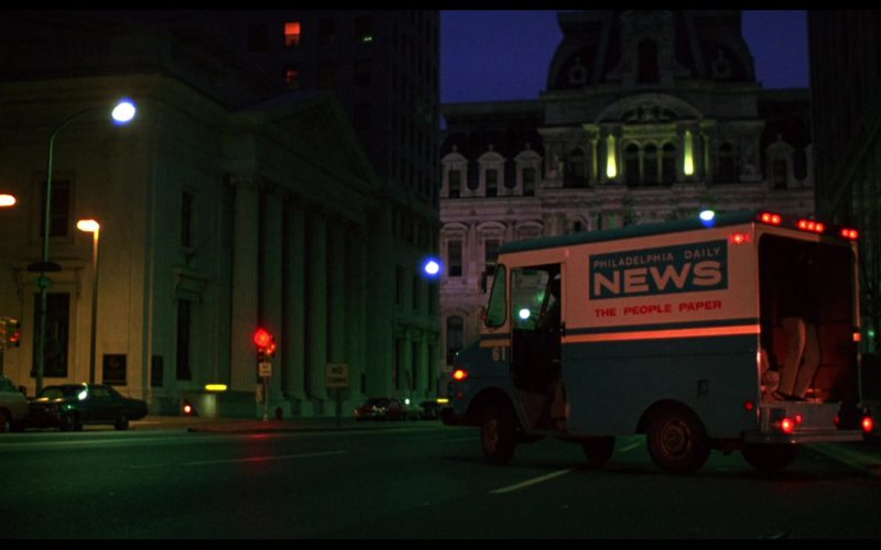Philadelphia Daily News Tabloid Newspaper Truck in Rocky