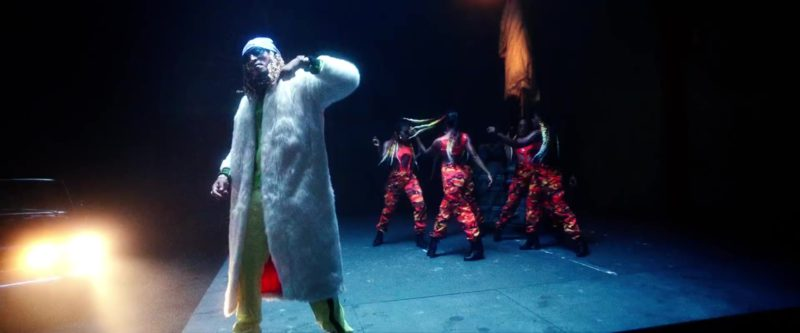 "Reebok White Fur Coat Worn by Future in ""Jumpin on a Jet"" (2019) - Official Music Video Product Placement"