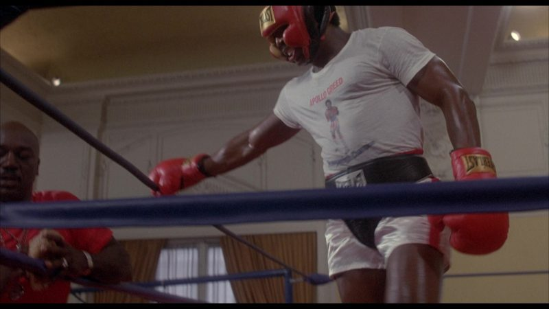 Everlast Hook & Loop Protector, Headgear and Gloves Worn by Carl Weathers (Apollo Creed) in Rocky 2 (1979) - Movie Product Placement