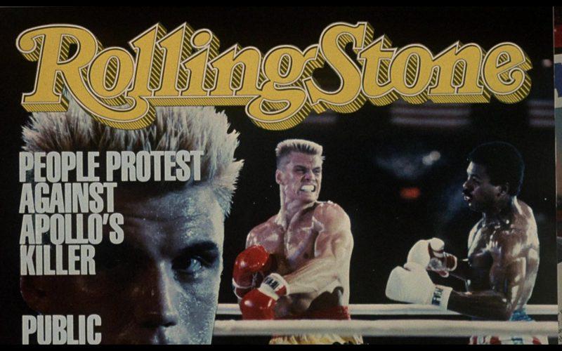 Rolling Stone Magazine in Rocky 4