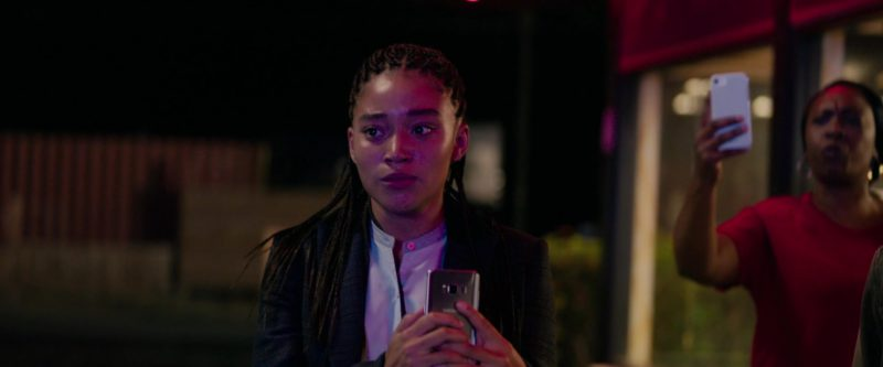 Samsung Galaxy Android Smartphone Used by Amandla Stenberg in The Hate U Give (2018) Movie Product Placement