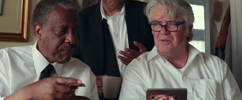 Samsung Galaxy Smartphone Used by Michael Harney in A Star Is Born (2018) Movie Product Placement