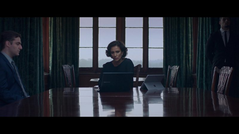 Samsung Laptop And Microsoft Windows Surface Tablet Used by Indira Varma in Close (2019) Movie Product Placement