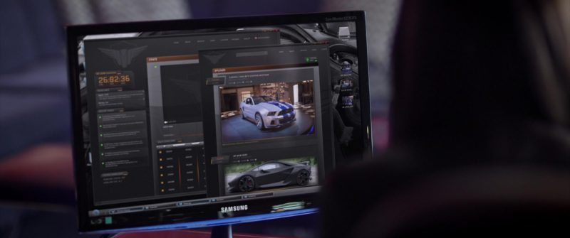 Samsung Monitor Used by Dakota Johnson in Need for Speed (2014) Movie Product Placement